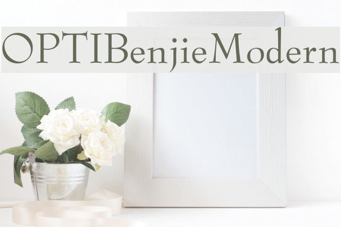 OPTIBenjieModern फ़ॉन्ट examples