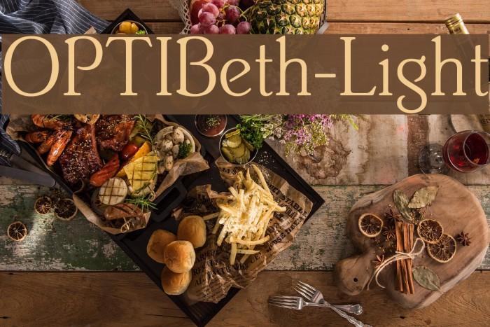 OPTIBeth-Light Fonte examples