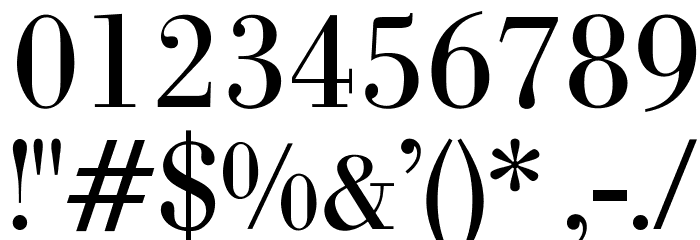 OPTIBodoni-Antiqua Font OTHER CHARS