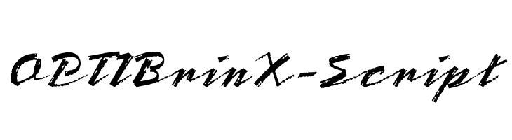 OPTIBrinX-Script  Free Fonts Download