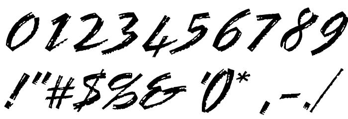 OPTIBrinX-Script Шрифта ДРУГИЕ символов
