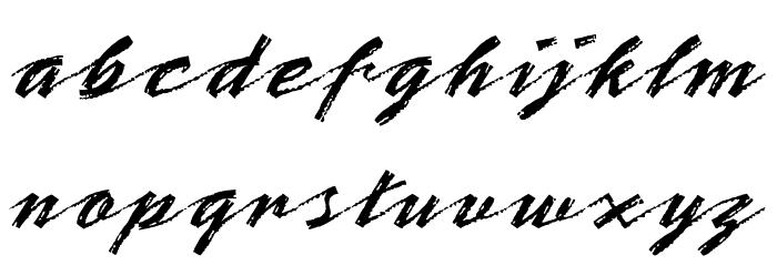 OPTIBrinX-Script Шрифта строчной