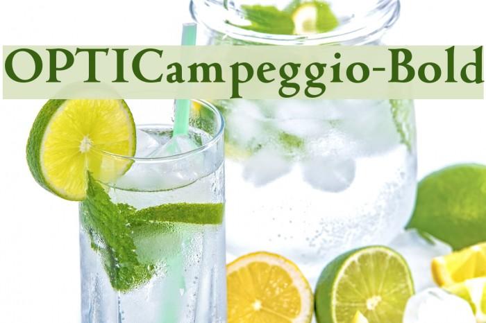 OPTICampeggio-Bold لخطوط تنزيل examples