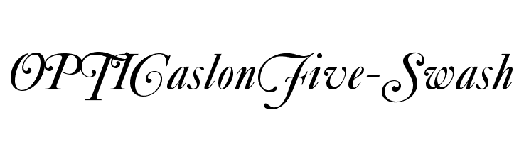 OPTICaslonFive-Swash  नि: शुल्क फ़ॉन्ट्स डाउनलोड