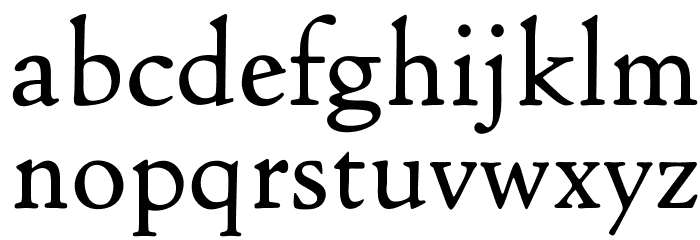 OPTICloister Font LOWERCASE
