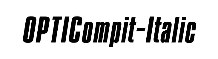 OPTICompit-Italic  لخطوط تنزيل