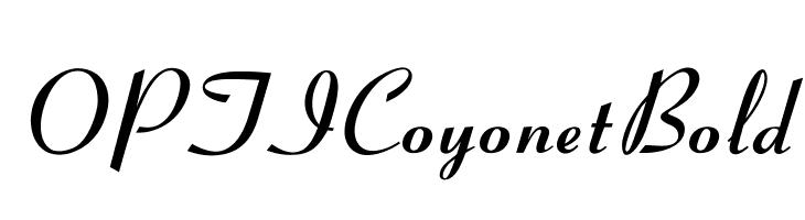 OPTICoyonetBold  Free Fonts Download