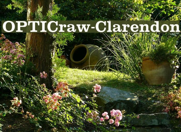OPTICraw-Clarendon Font examples