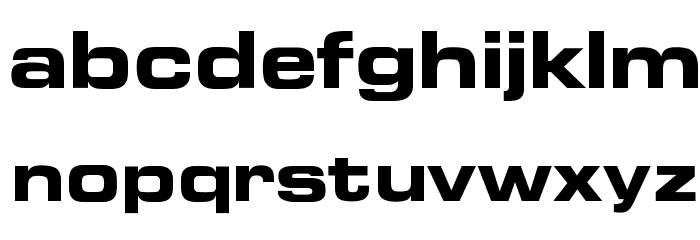 OPTIEdgarBold-Extended Font LOWERCASE