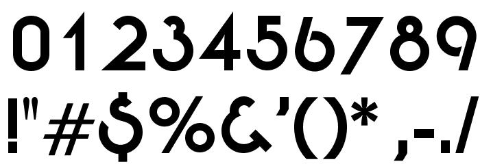 OPTIEton-Bold Шрифта ДРУГИЕ символов