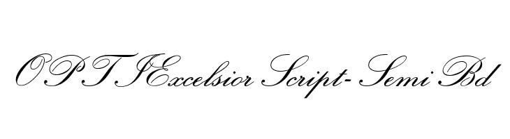 OPTIExcelsiorScript-SemiBd  Frei Schriftart Herunterladen
