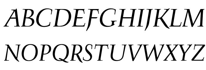 OPTIFavrileRegular-Italic Font UPPERCASE