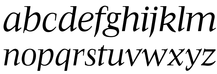 OPTIFavrileRegular-Italic Font LOWERCASE
