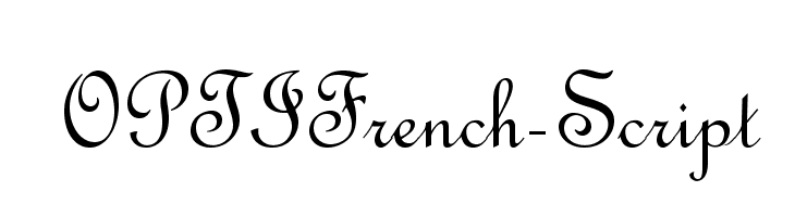 OPTIFrench-Script  Free Fonts Download