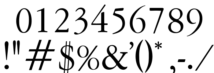 OPTIGaramond-Oldstyle Font OTHER CHARS