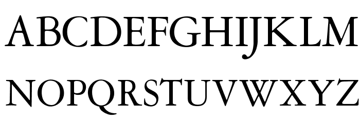 OPTIGaramond-Oldstyle Font UPPERCASE