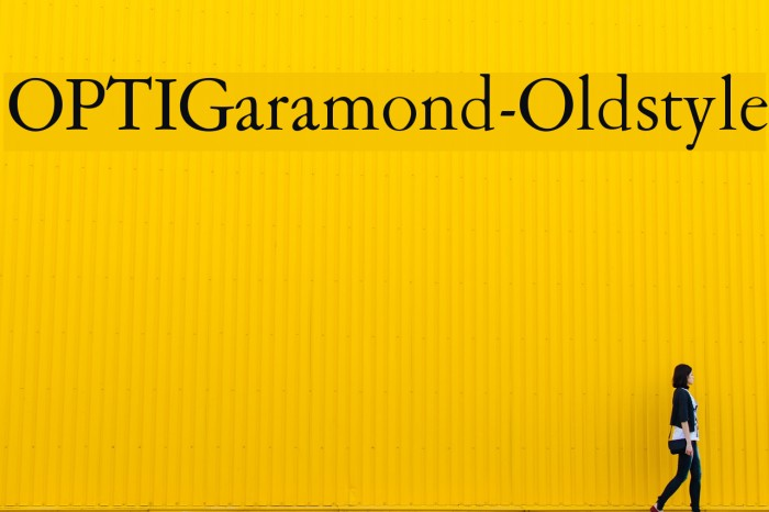OPTIGaramond-Oldstyle Font examples