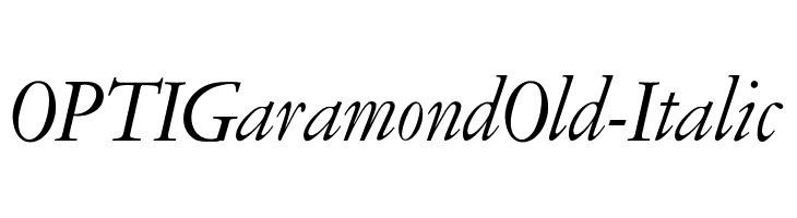 OPTIGaramondOld-Italic  لخطوط تنزيل