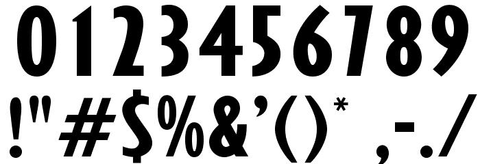 OPTIGibby-XBoldXCondHeads Шрифта ДРУГИЕ символов