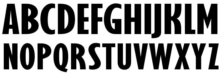 OPTIGibby-XBoldXCondHeads Шрифта ВЕРХНИЙ