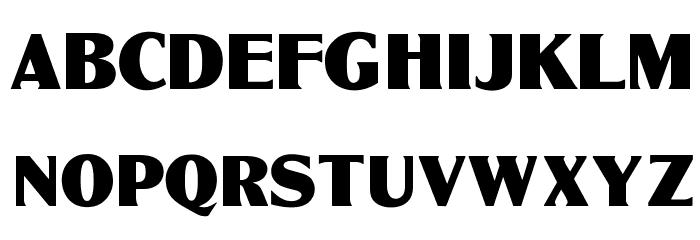 OPTIGlobeGothic-Bold फ़ॉन्ट अपरकेस