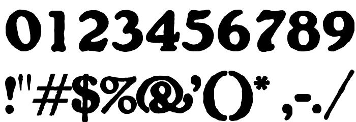 OPTIGorilla Font OTHER CHARS