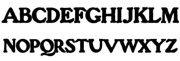 OPTIGorilla Font UPPERCASE