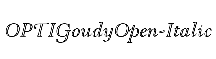 OPTIGoudyOpen-Italic  フリーフォントのダウンロード