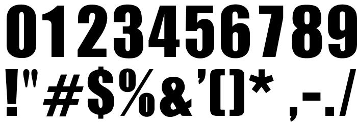 OPTIIgnite Font OTHER CHARS