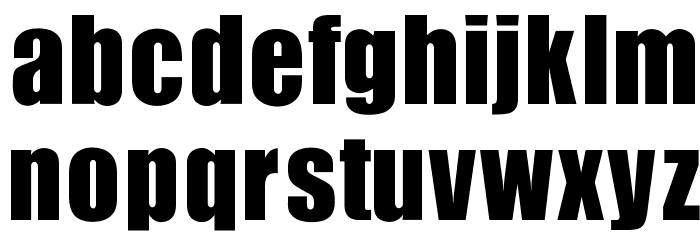 OPTIIgnite Font LOWERCASE