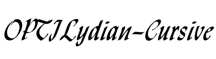 OPTILydian-Cursive  Free Fonts Download