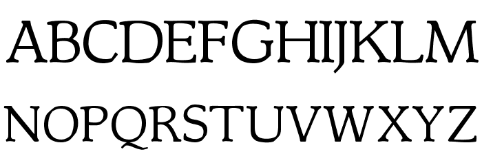 OPTIMagnaCarta-Regular Font UPPERCASE