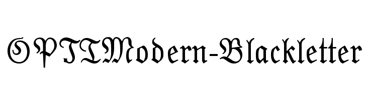 OPTIModern-Blackletter  Free Fonts Download