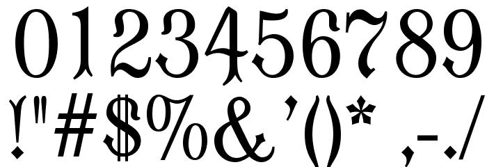 OPTIModern Blackletter Font OTHER CHARS
