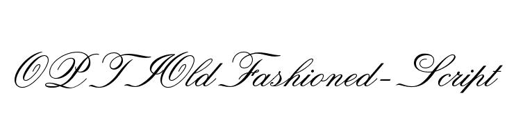 OPTIOldFashioned-Script  नि: शुल्क फ़ॉन्ट्स डाउनलोड