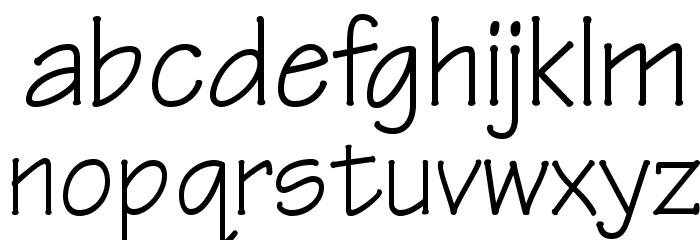 OPTIRipple-Regular Font LOWERCASE