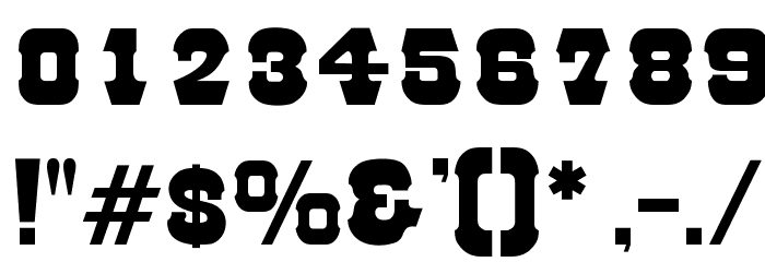 OPTIRodeo Font OTHER CHARS