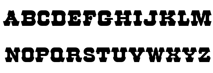 OPTIRodeo Font UPPERCASE