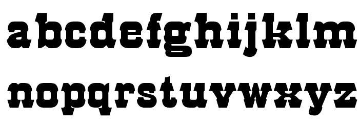 OPTIRodeo Font LOWERCASE