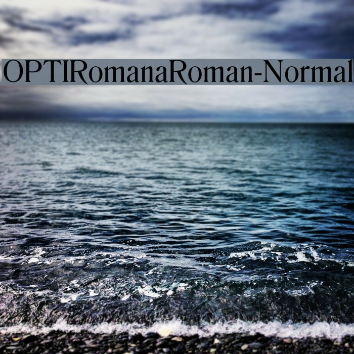 OPTIRomanaRoman-Normal फ़ॉन्ट examples