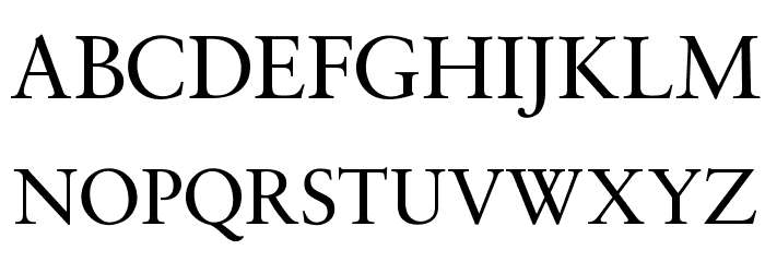 OPTISaroneRomanNormal Font UPPERCASE