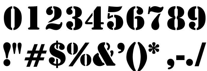 OPTIStencil-Bold Font OTHER CHARS