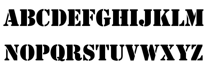 OPTIStencil-Bold Font Litere mari