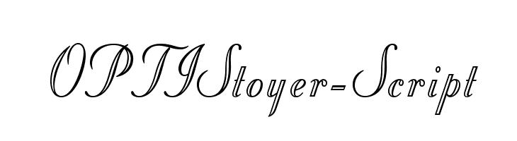 OPTIStoyer-Script  les polices de caractères gratuit télécharger
