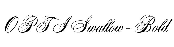 OPTISwallow-Bold  Скачать бесплатные шрифты