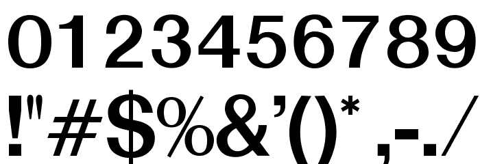 OPTISwiss-NoThree Font OTHER CHARS