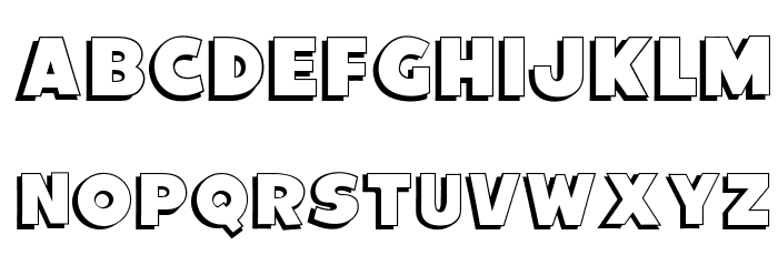 OPTIVancouver-Shadow Font UPPERCASE