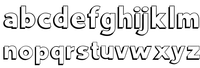 OPTIVancouver-Shadow Font LOWERCASE