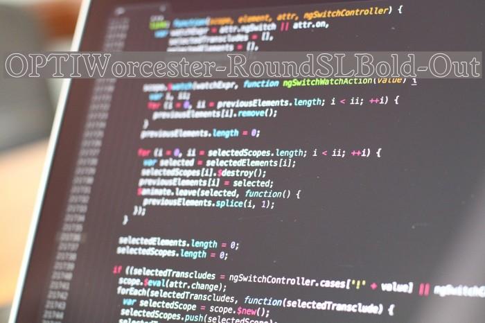 OPTIWorcester-RoundSLBold-Out لخطوط تنزيل examples