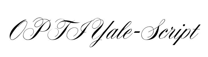 OPTIYale-Script  Descarca Fonturi Gratis
